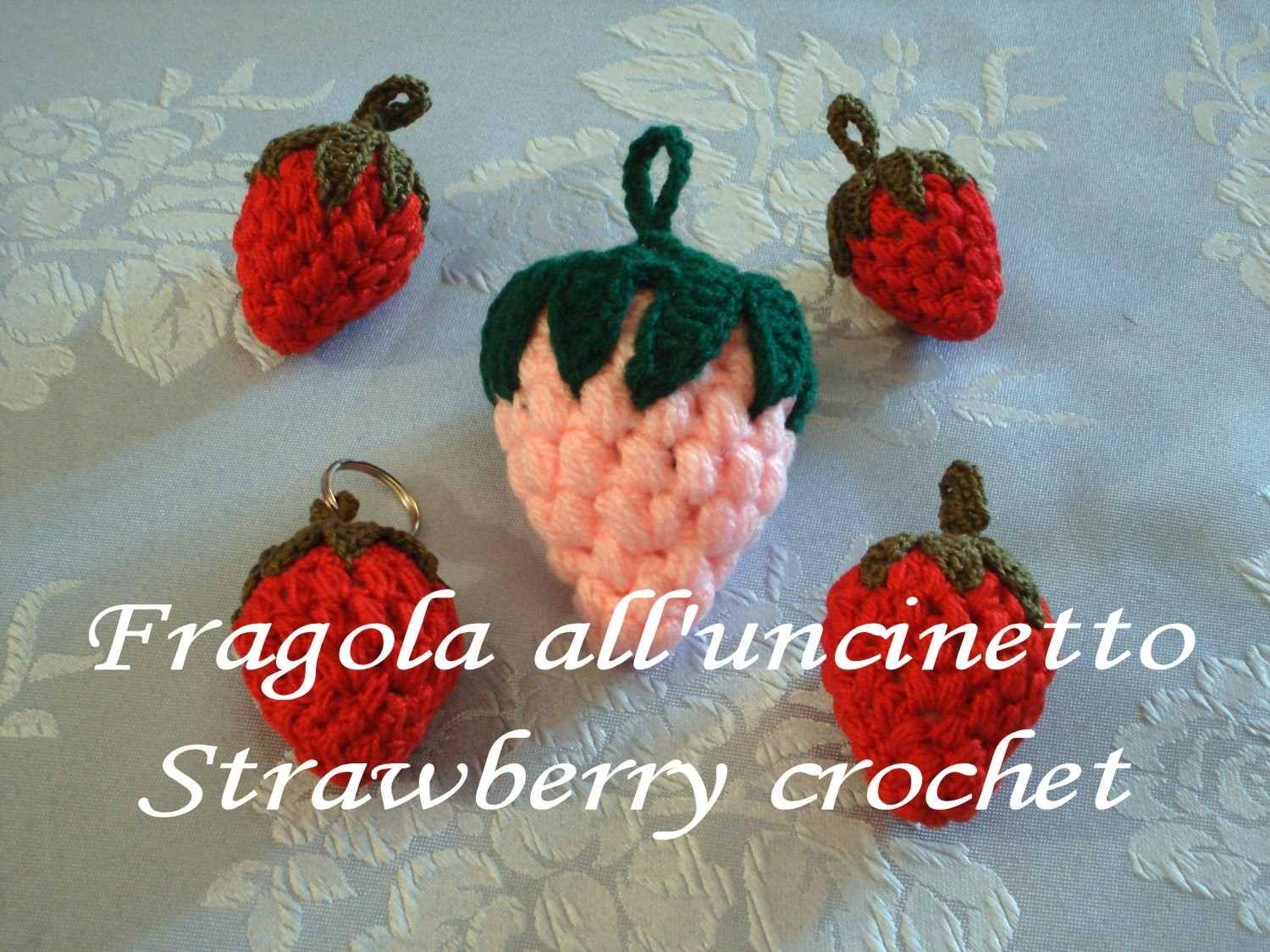 Fragola uncinetto strawberry  crochet