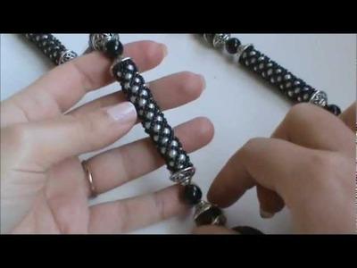 Prima Creazione del 2012: Collana con Tubulare Netted bianco nero