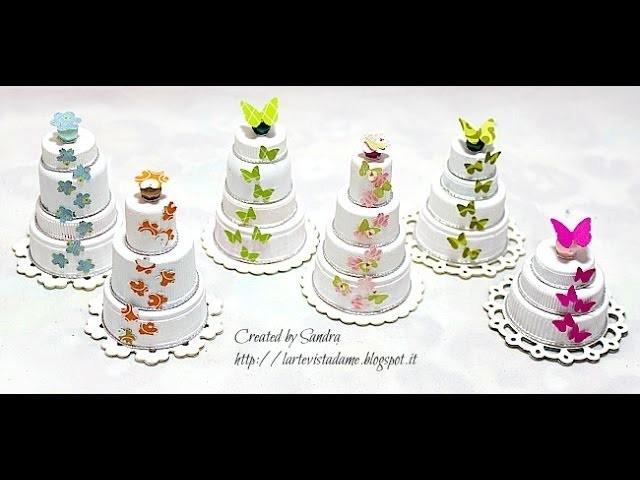 Riciclo creativo tutorial: Come riutilizzare i tappi di plastica per creare piccole torte