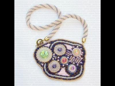Sarubbest - Collana embroidery con Rivoli Swarovski, bicono e perline | Nuove Creazioni
