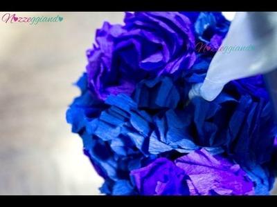Sfere di fiori di carta   Tutorial Nozzeggiando