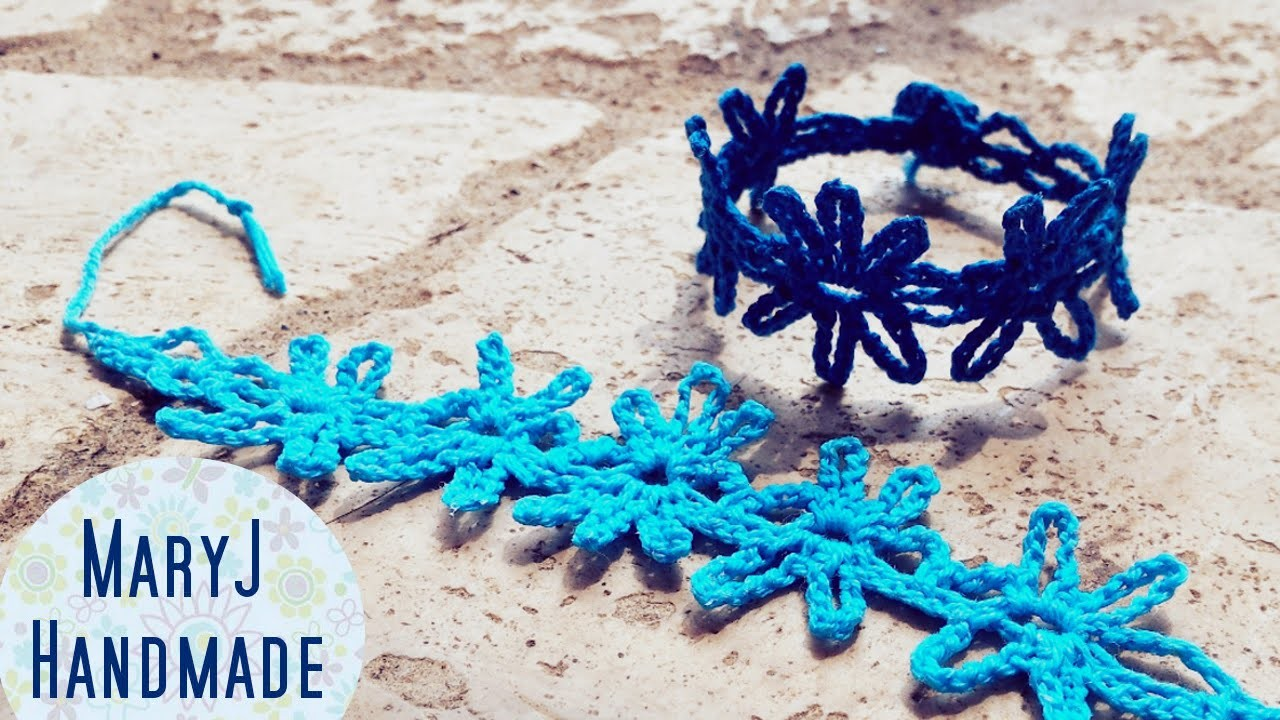 Tutorial: bracciale all'uncinetto | Abstract flower