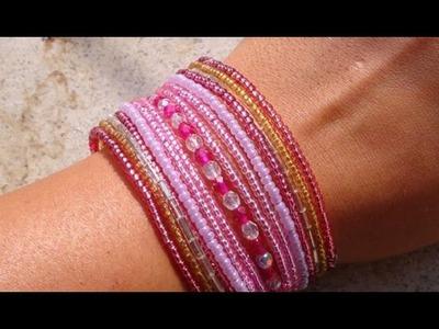 Tutorial: Braccialetto di perline rosato :)