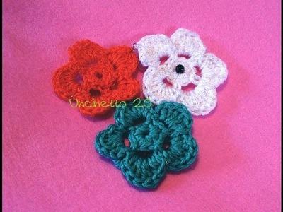 Tutorial uncinetto - Come si fa un fiore 2D a 5 petali