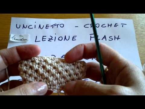 Uncinetto, crochet - Punto canestro