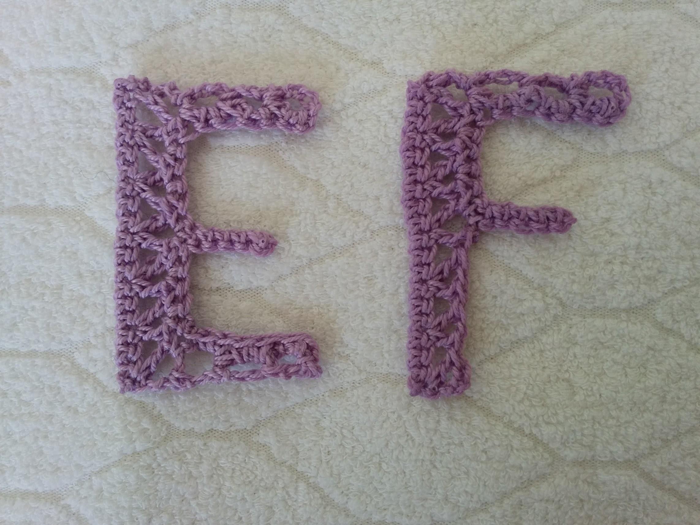Alfabeto all'uncinetto: lettere E, F - Crochet Alphabet: letters E, F