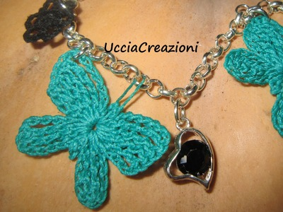 BRACCIALI E CIONDOLI ALL'UNCINETTO DI UCCIACREAZIONI FIMO NEW CHARMS CROCHET