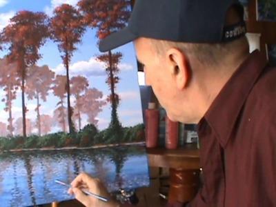 Come dipingere alberi di pioppo con vernice acrilica su tela come Monet