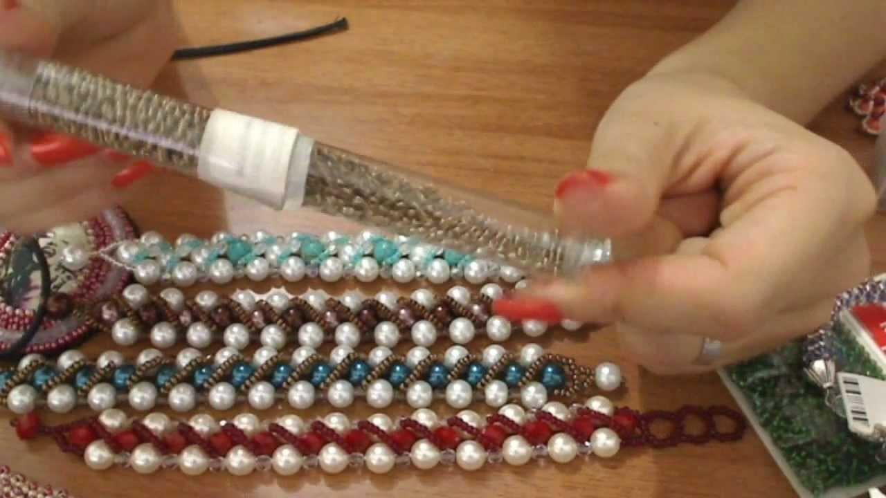 Creazioni bracciali perle e perline - spirali ed embroidery Gioielli fai da te