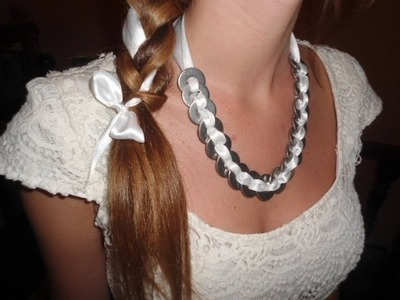 DIY :  knot necklace collana FAI DA TE