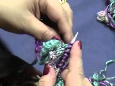 Lavorazione lana Maya (Lana a fiore)