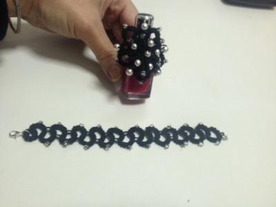 Lezione2 chiacchierino archi x creare un braccialetto Rosaantico