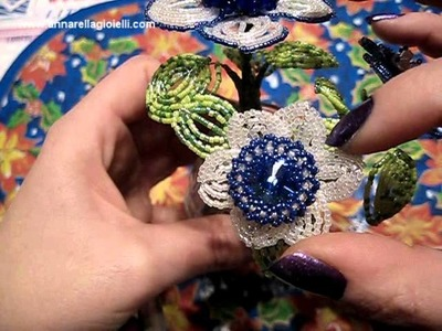 Mazzolino di Fiori con swarovski incastonati | beaded flowers with swarovski