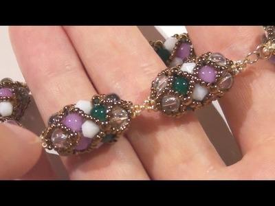 Sarubbest: bracciale ed orecchini con tecnica RAW, perline rocailles e perle in vetro economiche