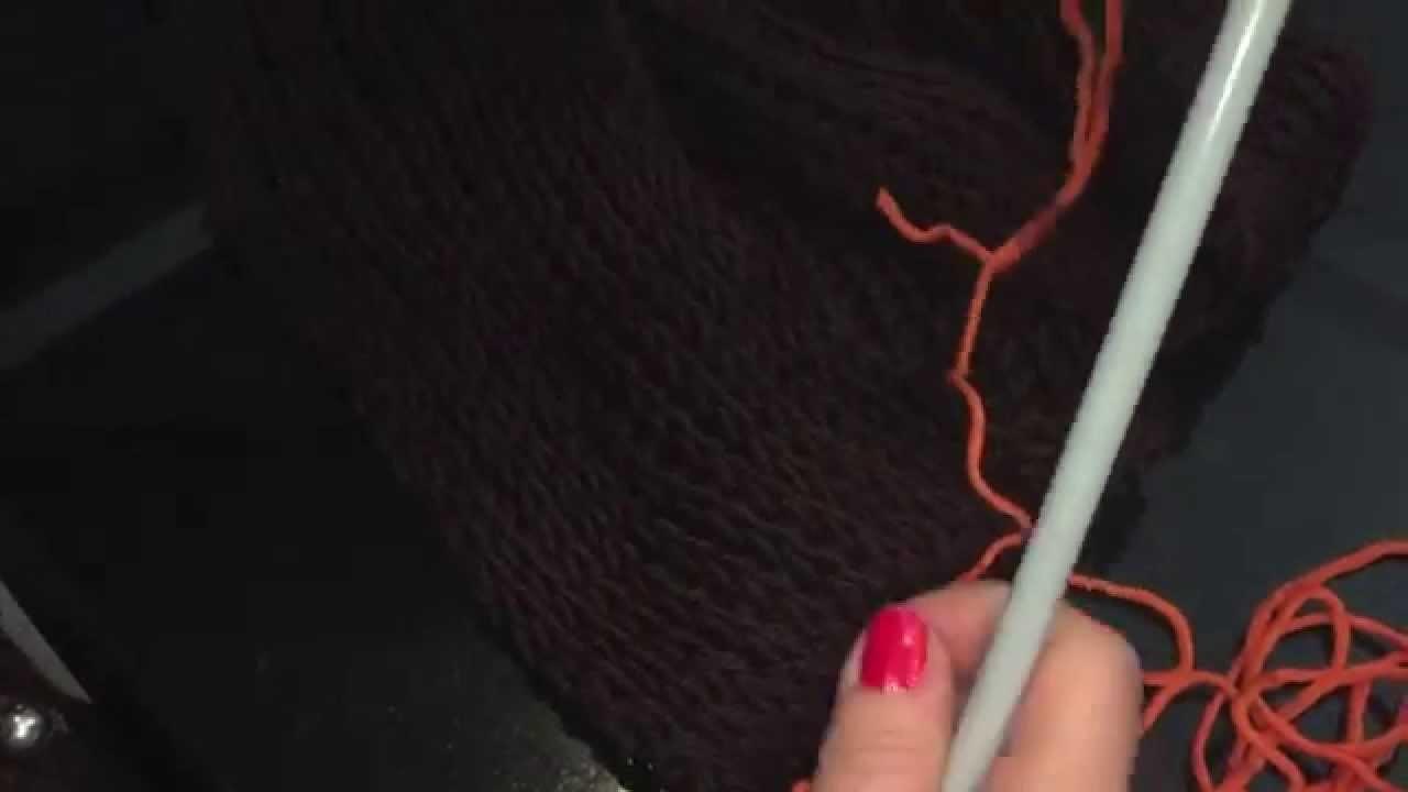 Scaldacollo con maglia tipo inglese a ferri grandi