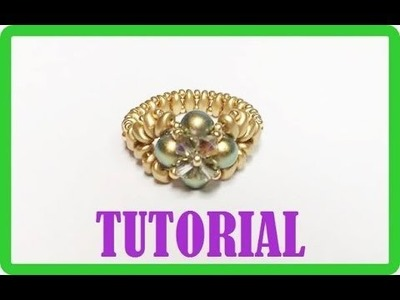 Tutorial, come fare un anello con perline. Anello Iridescenze Decò