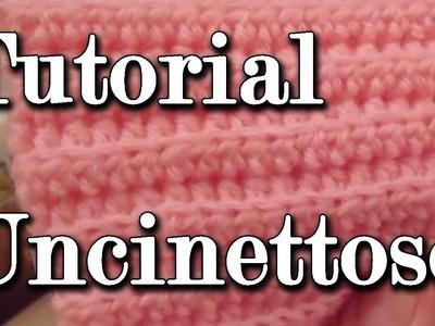Tutorial uncinetto: mezza maglia alta in costa dietro