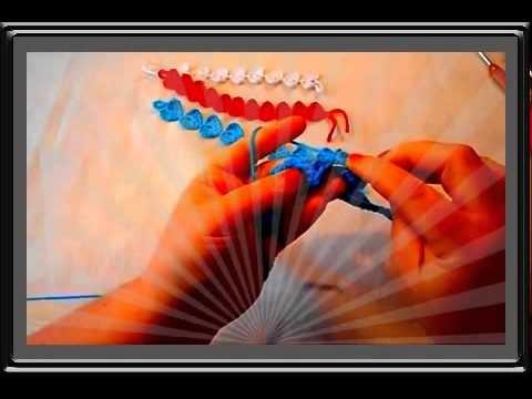 Uncinetto Crochet Braccialetto fiore Cuore Hearth