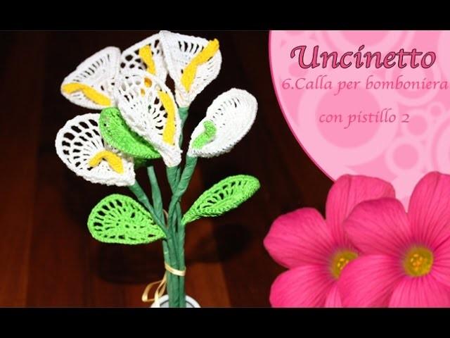 Uncinetto fiore 6: Calla per bomboniera 2