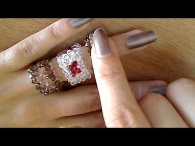 Anelli swarovski e cristalli di boemia intrecci  votate il tutorial da fare
