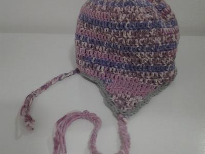 Cappellino da Bimba Paraorecchie.Uncinetto.Parte 1