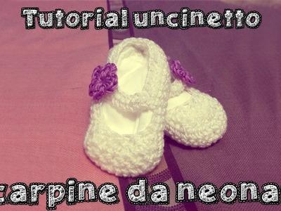 Come fare delle scarpine da neonato all'uncinetto - Parte 2