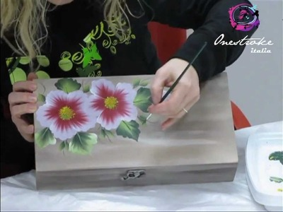 Decorazione di una scatola con la Tecnica One StrokePainting by Marzia Di Somma.
