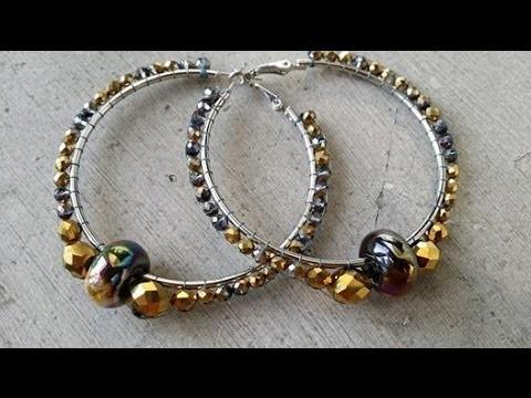 """DIY - Orecchini """"Anelle brick stitch circolare"""" - Circular Brick stitch earrings"""