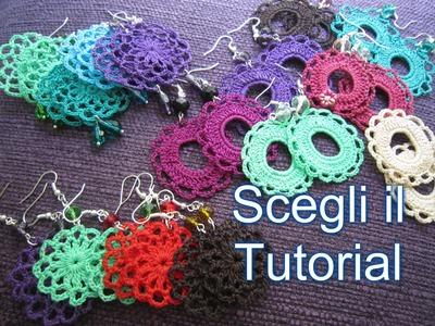 Haul nuovi Progetti per Orecchini all'uncinetto ! Scegli il Tutorial ! Earrings Crochet