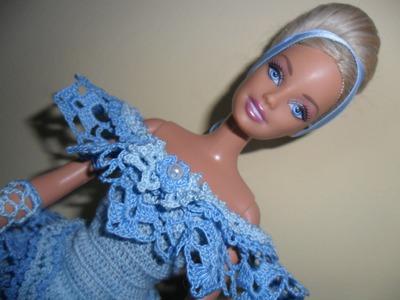 """Lavori artistici all'uncinetto """"Abito Barbie 2"""""""