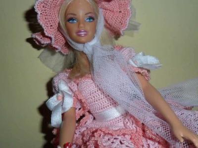 """Lavori artistici all'uncinetto """"Abito Barbie 1"""""""