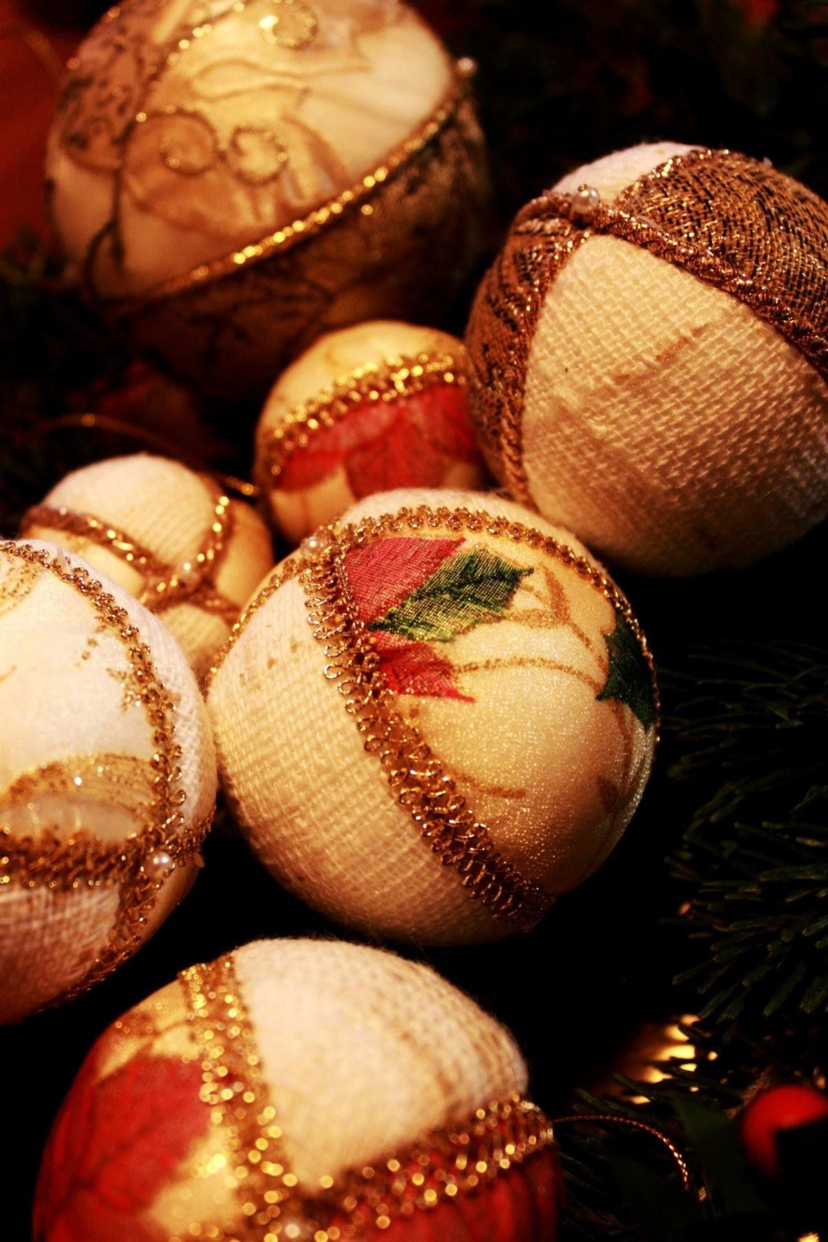 Palline di natale in tessuto fai da te for Natale 2016 addobbi fai da te