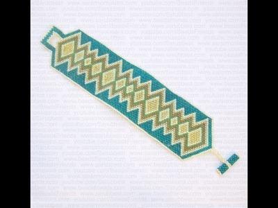 Sarubbest - Bracciale Fascia Peyote Con Perline Delica | Nuove Creazioni