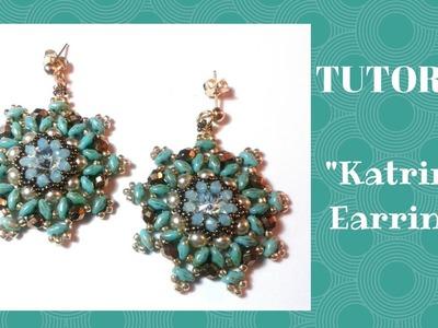 """Tutorial:come realizzare un paio di orecchini """"Katrina"""" con superduo"""