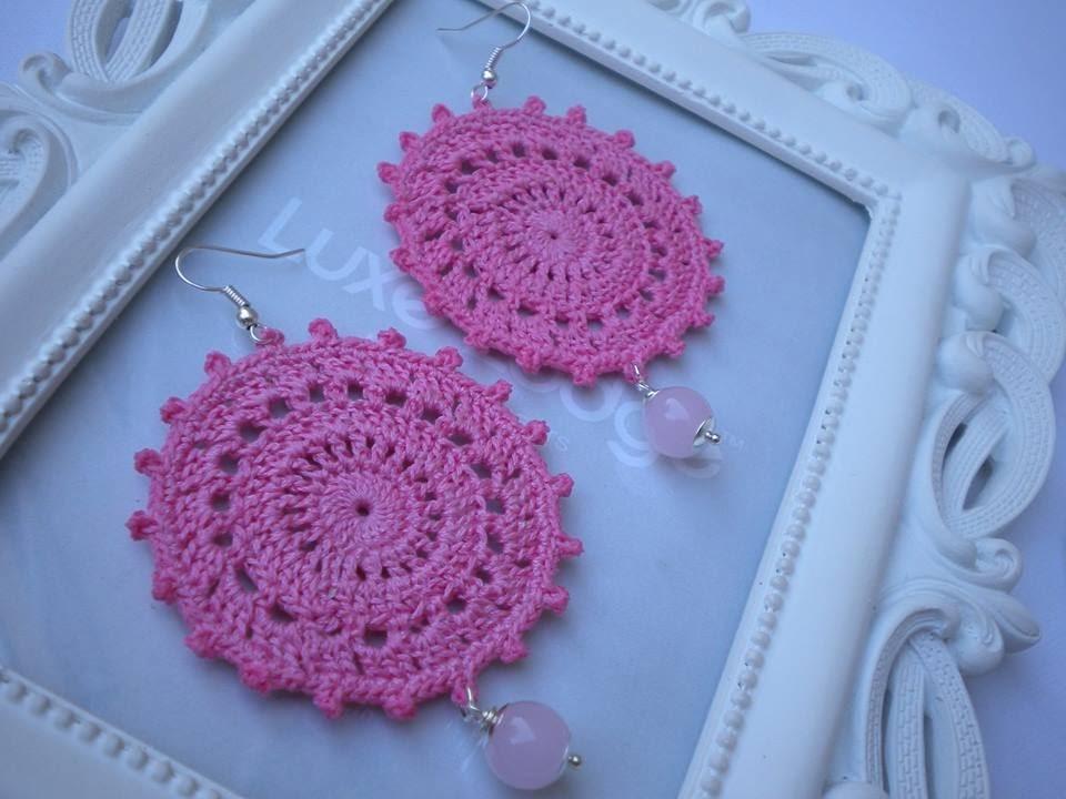TUTORIAL orecchini crochet Doily