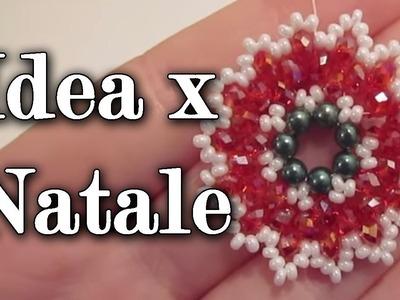 Tutorial perline: ciondolo a cerchio, natalizio, facilissimo!