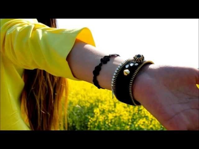 Braccialetti fatti a mano con cerniere. Bracelets handmade by ARCREATIONS