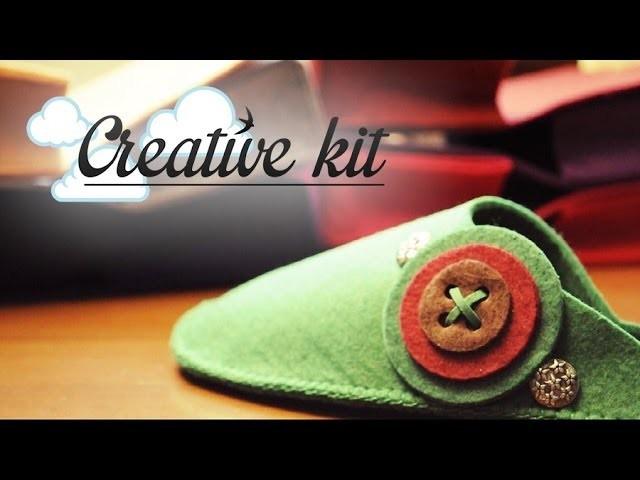 "Come fare ""Ciabattina (Mod. Bottone)"" Tutorial Creative kit"