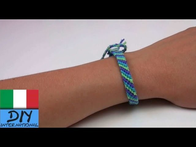 Come realizzare un braccialetto dell´amicizia disegno diamante tutorial fai da te