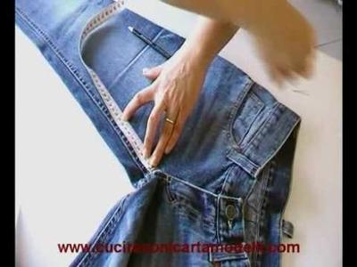 Come riciclare un pantalone jeans e trasformarlo in un short alla moda 1a parte