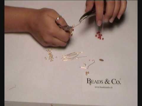Creare orecchini rossi - lezione 13 - beads