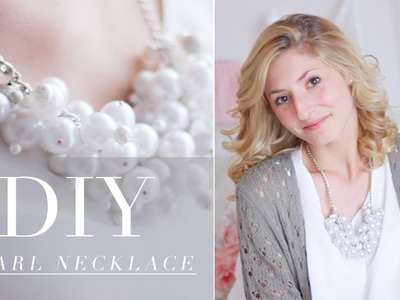 DIY- pearl necklace ♥ (collana di perle)