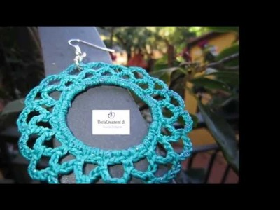 ORECCHINI ALL' UNCINETTO E FIMO 2012  DI UCCIACREAZIONI CHARMS earrings CROCHET