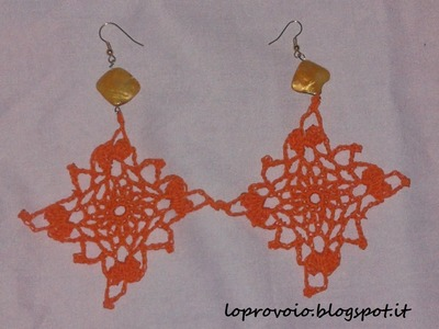 Orecchini quadrati all'uncinetto - Crochet earrings