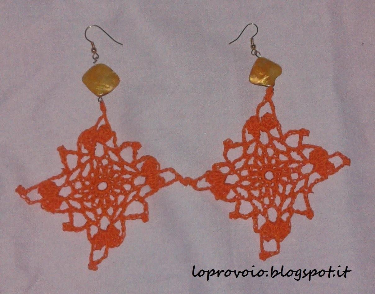 Orecchini quadrati all'uncinetto - Crochet earrings