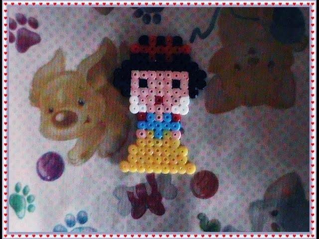 Principessa disney biancaneve hama beads-pyssla