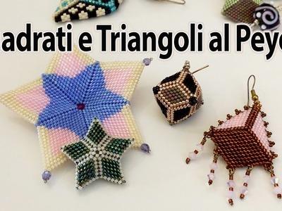 Sarubbest: esempi di creazioni basate sul triangolo e sul quadrato al Peyote Sarubbest