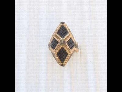 Sarubbest - Orecchini ed Anello con perline (Tecnica Peyote) - Gioielli con perline