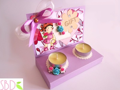 Scatola regalo porta candele - Candle gift box