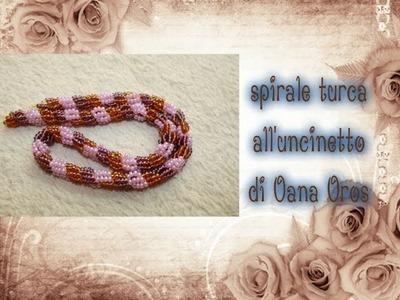 Spirale turca all'uncinetto